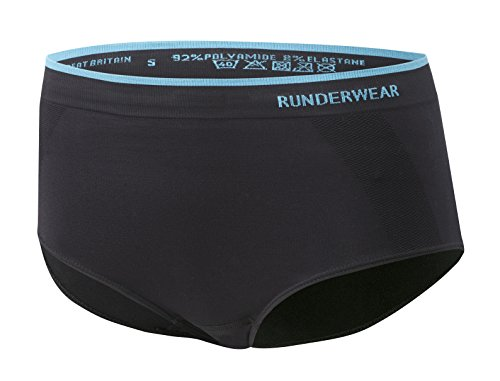 Runderwear Women's Brief | Seamless, Chafe-Free Performance Underwear | Ideal For Running, Fitness/Gym, Netball, Hockey, Horse Riding and Other Sports, Large