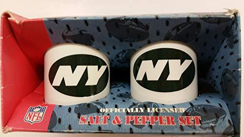 NEW YORK JETS Ceramic Salt & Pepper Shaker Set both with Team Logo