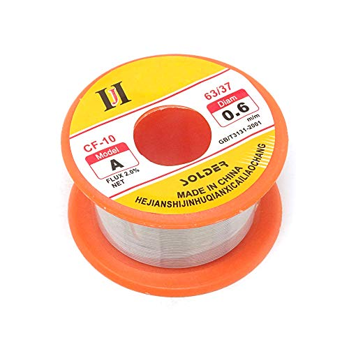 yueton Tin Lead Rosin Core Solder 63/37 Active Solder Wire With Resin Core for Electrical Repair Soldering Purpose in 1.8 oz 0.6mm ()