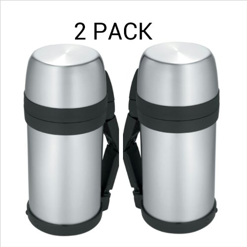 Thermos Nissan 48-Ounce Wide Mouth Stainless-Steel Bottle (2) by Thermos