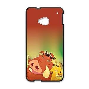 Pumbaa Simba Timon HTC One M7 Cell Phone Case Black W2293698