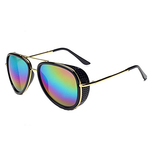 9447bbcafd06e Iron Man 3 Tony Oversized Double Beam Driving Sunglasses Frog Mirror  Glasses C1 - Buy Online in Oman.