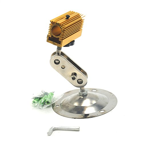Golden Cooling Heatsink Holder with Mount for 12mm Laser Diode Module(20×27×50)