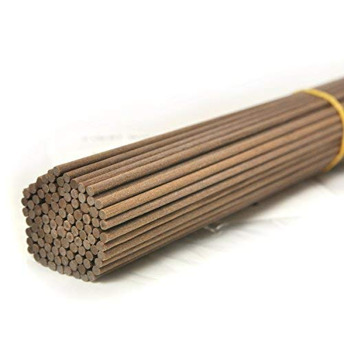 Ougual 100 Pieces Fiber Reed Diffuser Replacement Refill Sticks (8' x 3mm, Brown)
