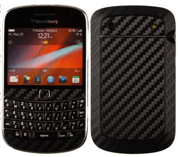 Skinomi TechSkin - BlackBerry Bold 9900 Screen Protector + Carbon Fiber Full Body Skin / Front & Back Premium HD Clear Film / Ultra Invisible and Anti Bubble Shield
