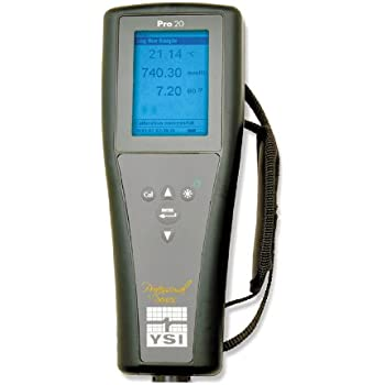 YSI Pro20 Lab/Field Dissolved Oxygen/Temperature Meter, 0 to 50 mg/L, 0.1 mg/L, 0 to 20 mg/L, -5 to 55 degree C, 8-1/2