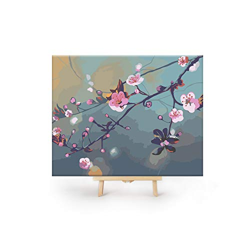 (Big Betty Paint by Numbers for Adults, Expansion Pack, Cherry Blossoms Canvas, 1 Kit)