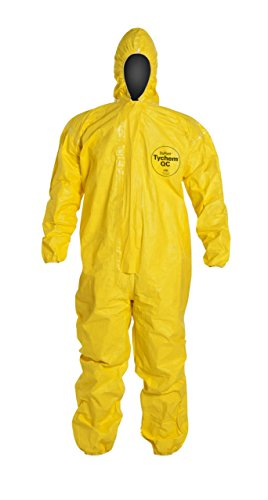 Tychem QC Chemical Protection Coveralls With Hood By Dupont, Sizes Medium To 4XL (Dupont Chemical Protection)