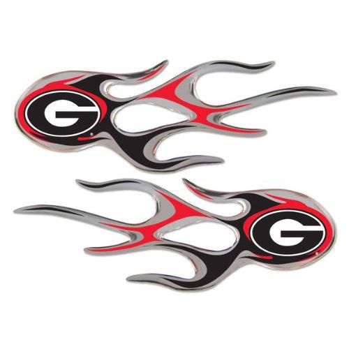 Georgia Bulldogs Micro Flames Auto Decal 2 Pack for Car T...