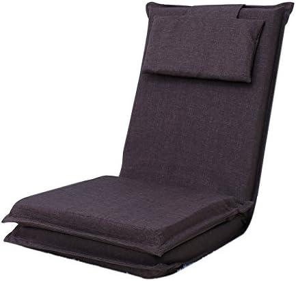 ソファー 怠惰なソファ、背もたれのある怠惰なソファ、折りたたみ可能なシングルランチブレイクソファ、スモールベッドコンピュータチェア A+ (Color : 5#)