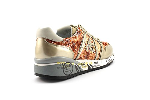 Sneaker Premiata DIANE 2100 Paillettes Arancio/Oro - Size:38