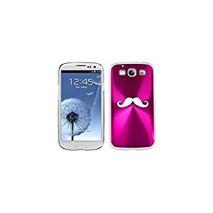 Hot Pink Samsung Galaxy S III S3 Aluminum Plated Hard Back Case Cover K05 Mustache by ruishername