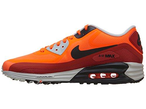 Mens Air Max Lunar90 Wr zapatos corrientes 654471-800 Rojo 8 M con nosotros