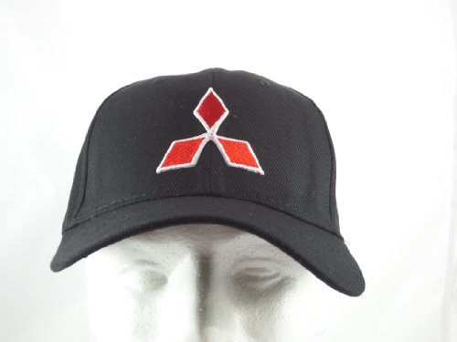 mitsubishi-baseball-hat-cap-black-adjustable-velcro-back
