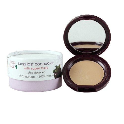 100% Pure Long Last Compact Concealers, White Peach