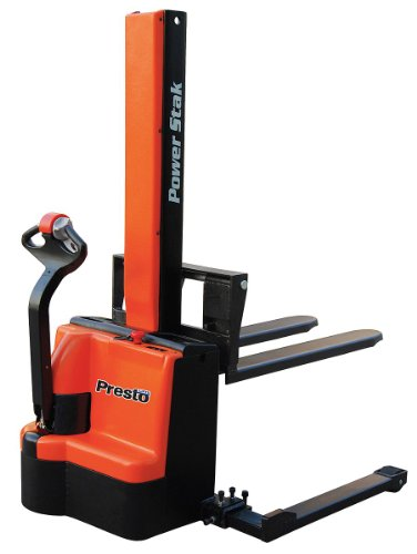 Presto Powerstak Fully Powered Stackers: Adjustable Forks Inside Adjustable Straddle Legs - 2200-Lb. Capacity - 3-1/4 To 62