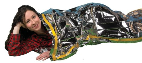 "Grizzly Gear Emergency Survival Mylar Thermal Sleeping Bag (2 Pack) 84"" X 36"""