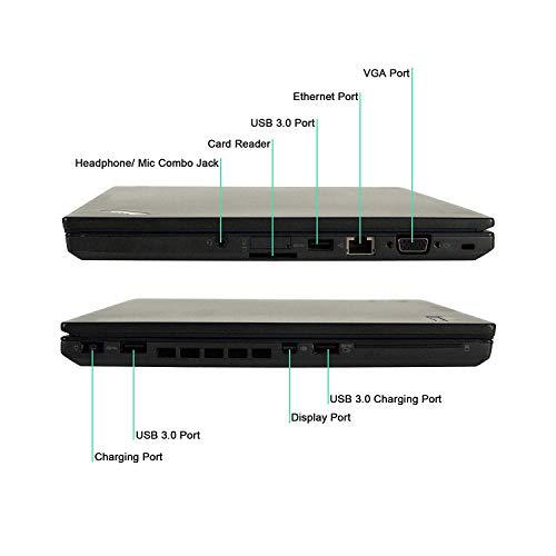 Lenovo ThinkPad T450 14-Inch Laptop (Intel Core i7-5600U 2.6GHz, 16GB Ram, 480GB SSD, Windows 10 Pro) (Renewed)