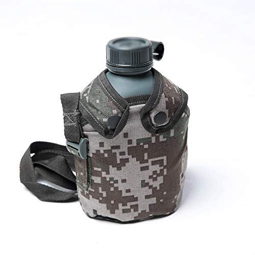 Drinking glass sport leakproof kettle Camouflage Kettle, Tactical Military Water Bottle Pouch, Camouflage Military Canteen Kettle Water Pot For Outdoor Camping Hiking Hunting