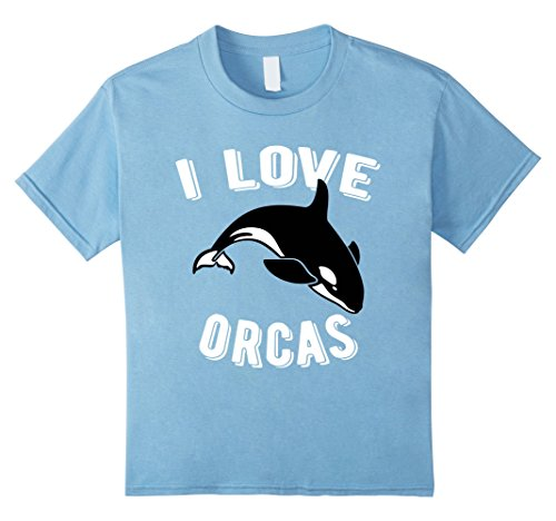 Kids Orcas Rescue I Love Orcas Killer Whale Activist Tshirt 4 Baby Blue (The Killers T-shirt)