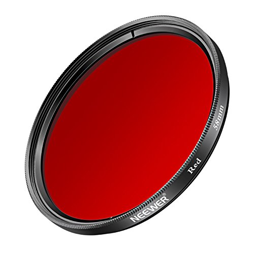 Neewer 58MM Red Filter for Canon EOS Rebel T6i T6 T5i T5 T4i T3i SL1 DSLR Camera, Made of HD Optical Glass and Aluminum Alloy Frame by Neewer