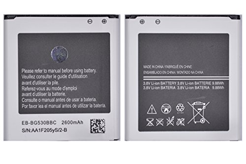 (Bundle SB) Samsung Galaxy Grand Prime LTE G530 G530H G530F G530T Replacement Battery + Crystal Clear Screen Protector, LCD Kit Exact Fit No Cutting Needed, By Fortress (Battery Plus Screen Protector)