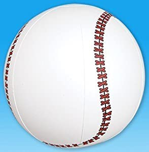 "1 Dozen Fun Inflatable Baseballs (9"") Party / Favor / Decor / Beach"