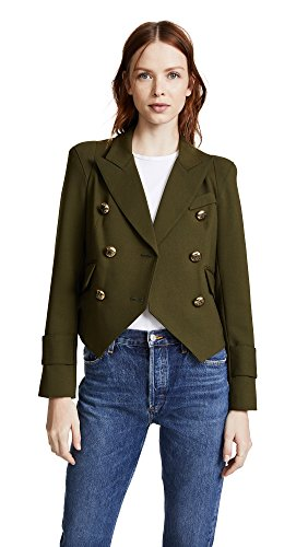 Smythe Wool Coat - SMYTHE Women's Pagoda Cadet Jacket, Army, 6