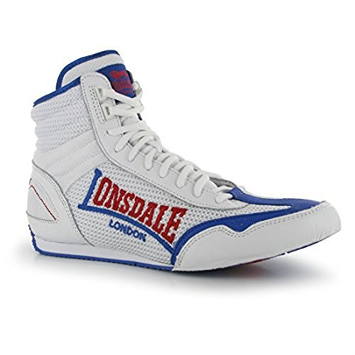 Lonsdale Mens Contender Boxing Boots Mid Cut Full Lace Up Lightweight  Shoes  Amazon.co.uk  Shoes   Bags 44347de8cf