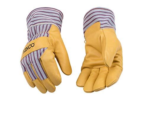 KINCO 1927-XXL Mens Lined Grain Pigskin Gloves, Heat Keep Lining, XX-Large, Golden