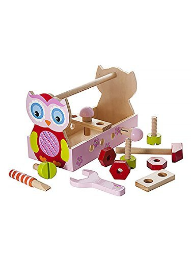 Cute Pink Owl Take Along Tool Kit Tool Box Toy Set Ideal for Toddler Girls Gift by Mousehouse Gifts
