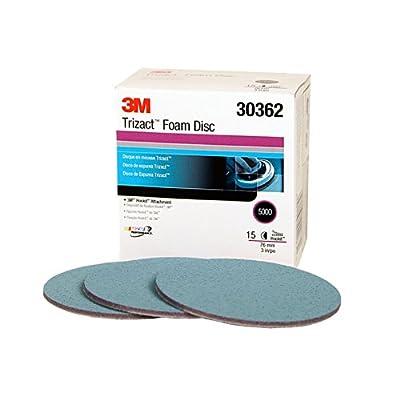 3M Trizact Hookit Foam Disc, 30362, 3 in, P5000, 15 discs per carton: Automotive