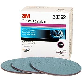 3M Trizact Hookit Foam Disc, 30362, 3 in, P5000, 15 discs per carton