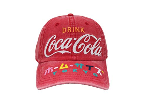 AMERICAN NEEDLE Coca Cola Carter Washed Slouch Adjustable Hat Red