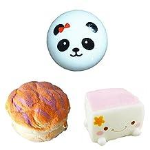 Great Deal 3 Pcs Squishies Kawaii Squishy Charm Toy ,Randomly Sent