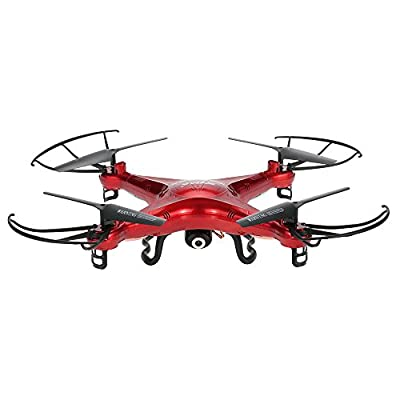 X5C white red quadcopter by SYMA