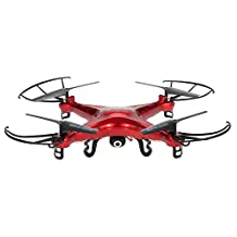 GoolRC Syma X5C Drone with 2.0MP HD Camera 3D Flips & High/Low Speed & Left/Right Mode 2.4GHz 4CH 6-Axis RC Quadcopter Red