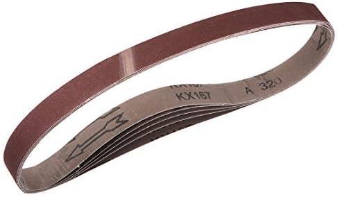 1-inch X 30-inch sanding belt 320 grit sand belts for 5-piece belt sander
