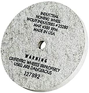 """product image for Wolff Twice as Sharp and Ookami Gold Wheels - Professional & Industrial Honing, Diamond, Polishing Wheels. 5"""" Wheels fit Wolff Scissor Sharpening Machines (Industrial Honing Wheel)"""