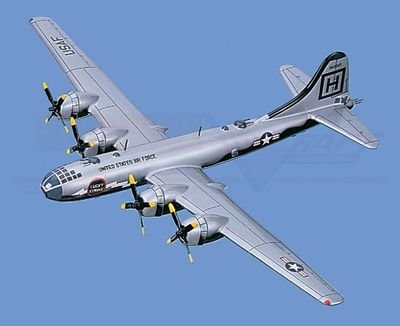 "B-29   Superfortress, ""Lucky Strike"" Aircraft Model Mahogany Display Model / Toy. Scale: 1/78"