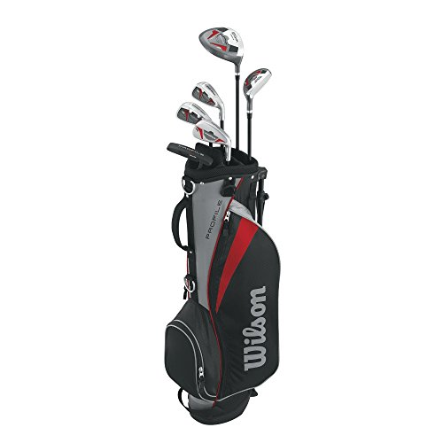 Wilson Men's Profile Junior Complete Package Golf Set, Right Hand, Red, Small