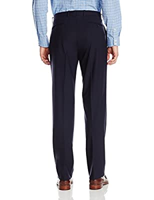 Calvin Klein Men's Malik Navy Two-Piece Suit with Two-Button Jacket and Flat Front Pant