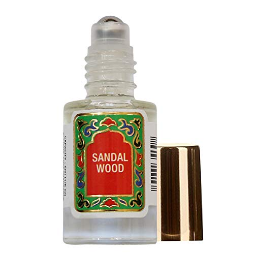 Sparkle Perfume Oil - Sandalwood Perfume Oil Roll-On - Sandal Wood Fragrance Oil Roller (No Alcohol) Perfumes for Women and Men by Nemat Fragrances, 5 ml / 0.17 fl Oz