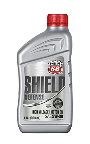 (Phillips 66 1076564-12 PK Blend Motor (Shield Defense High Mileage Synthetic Oil 5W30-1 Quart), 32. Fluid_Ounces, 12 Pack)