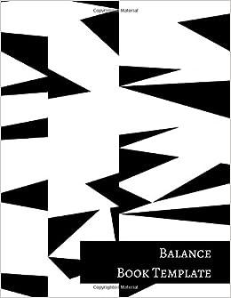 balance book template insignia accounts 9781521249635 amazon com