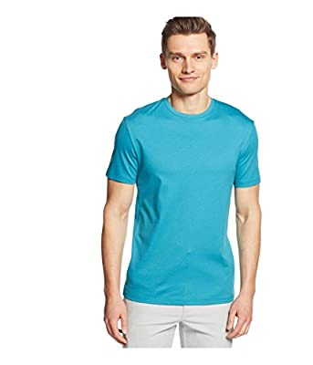 Calvin Klein Men's Short Sleeve Jersey Tee with Rib Details