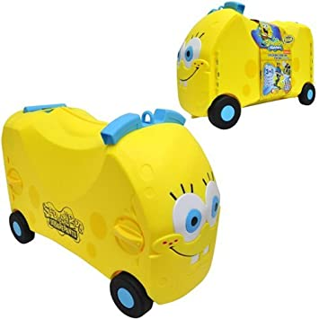 SPONGEBOB SQUAREPANTS VRUM RIDE ON TOY KIDS SUITCASE TROLLEY CASE ...