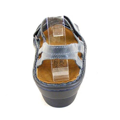 Naot Damen Schuhe Sandaletten Endure Echt-Leder blaugrau 14301 Wechselfußbett