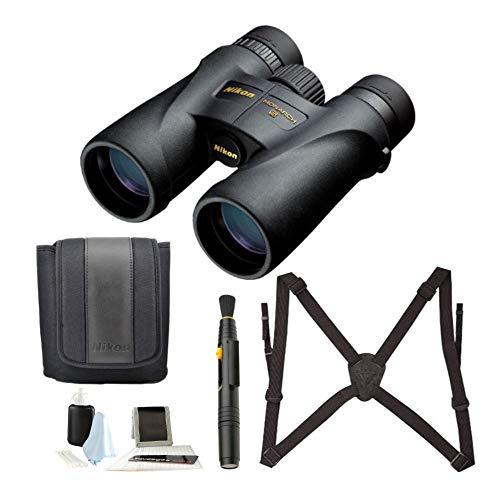 Nikon 7578 Monarch 5 12x42 Waterproof/Fogproof Roof Prism Binoculars Bundle with Nikon Lens Pen & Essential Accessories (4 Items)