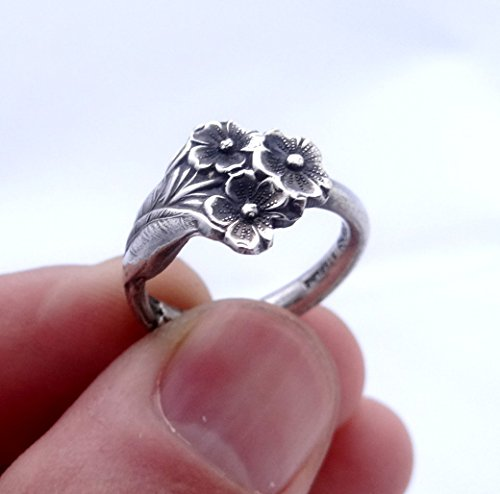 Reed & Barton sterling silver spoon ring Forget me not, Forget me not ring, silver spoon ring, silver ring, sterling silver ring, spoon jewelry, floral jewelry, floral ring, unique ring